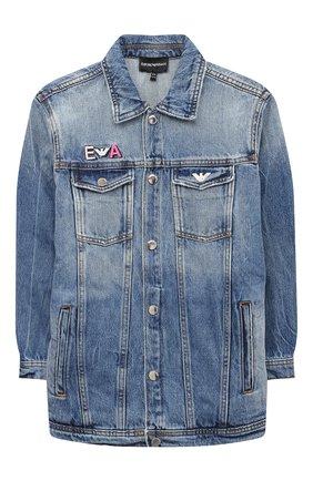 Детская джинсовая куртка EMPORIO ARMANI синего цвета, арт. 6H3B91/2DA2Z | Фото 1