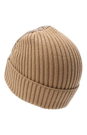 Детского пуховая шапка HERNO бежевого цвета, арт. BER001K/12289 | Фото 2