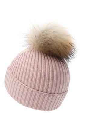 Детского пуховая шапка HERNO розового цвета, арт. BER005G/20045 | Фото 2