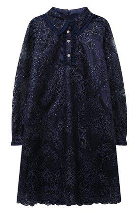 Детское платье EIRENE темно-синего цвета, арт. 202155   Фото 1