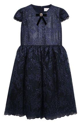 Детское платье EIRENE темно-синего цвета, арт. 202156   Фото 1