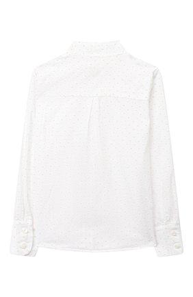 Детское хлопковая блузка EIRENE белого цвета, арт. 202165   Фото 2