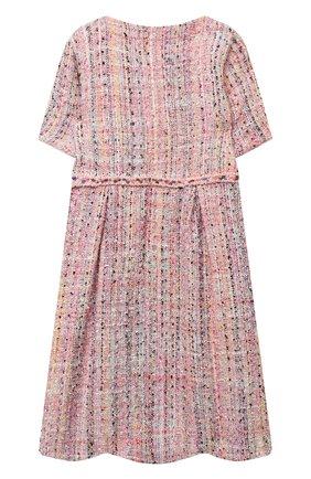 Детское твидовое платье EIRENE разноцветного цвета, арт. 202166   Фото 2