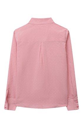 Детское хлопковая блузка EIRENE розового цвета, арт. 202169   Фото 2