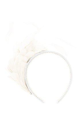 Детского ободок EIRENE белого цвета, арт. H202102   Фото 1