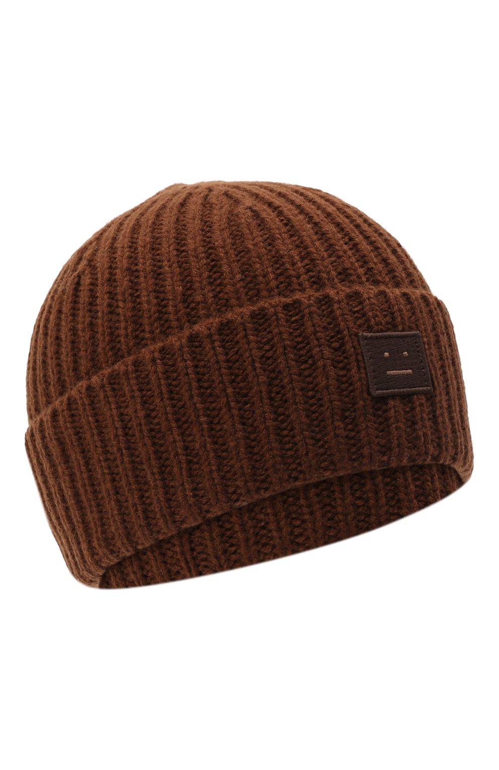 Детского шерстяная шапка ACNE STUDIOS коричневого цвета, арт. D40001   Фото 1