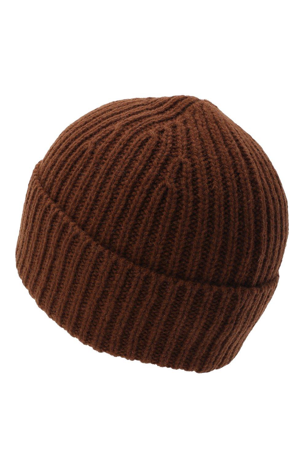 Детского шерстяная шапка ACNE STUDIOS коричневого цвета, арт. D40001   Фото 2