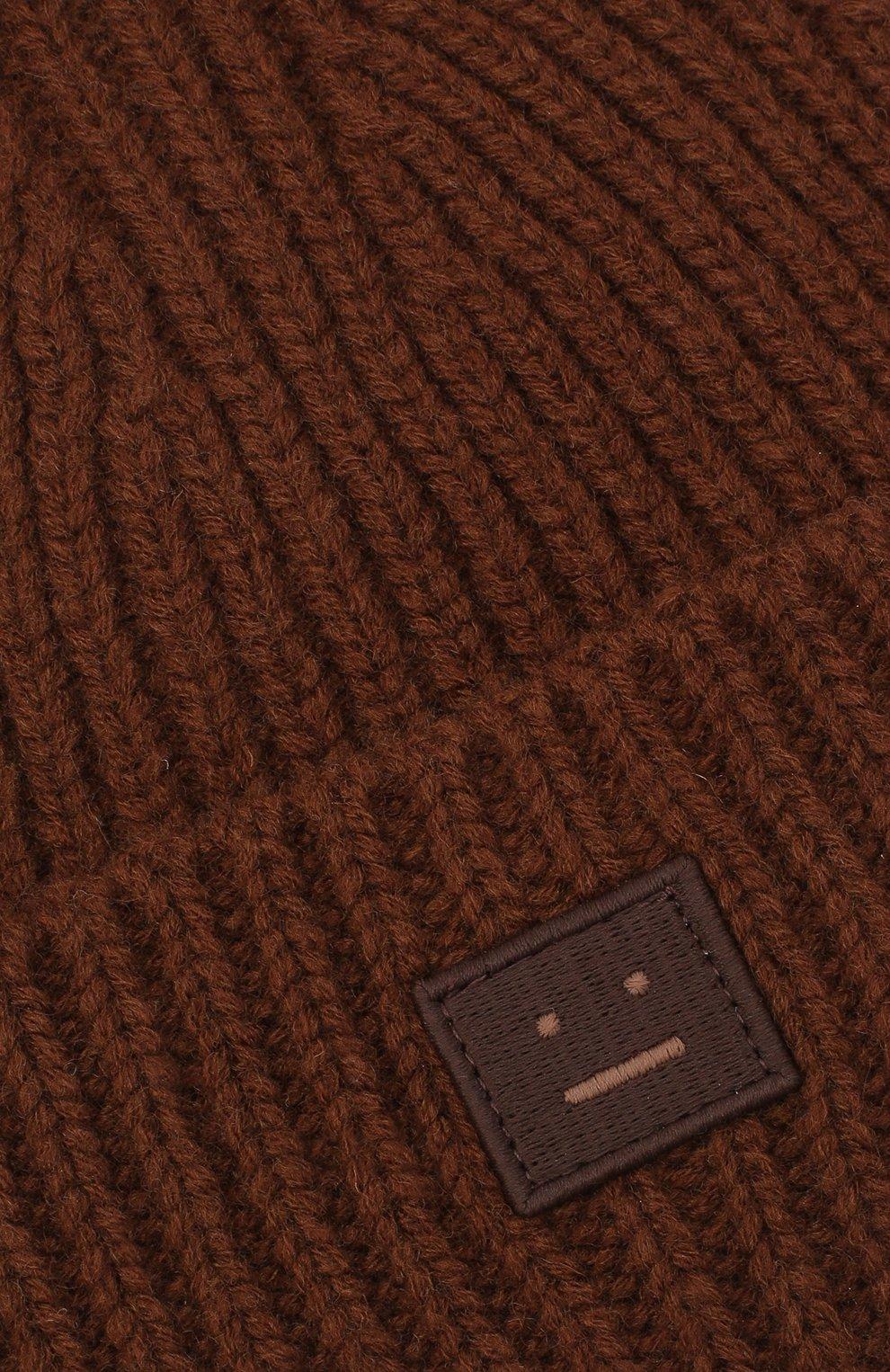 Детского шерстяная шапка ACNE STUDIOS коричневого цвета, арт. D40001   Фото 3