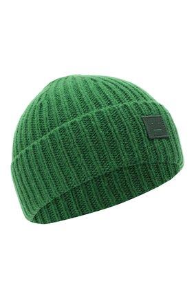 Детского шерстяная шапка ACNE STUDIOS зеленого цвета, арт. D40001 | Фото 1