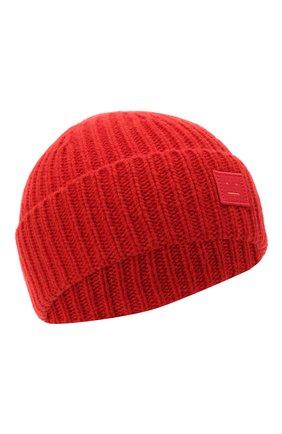 Детского шерстяная шапка ACNE STUDIOS красного цвета, арт. D40001 | Фото 1