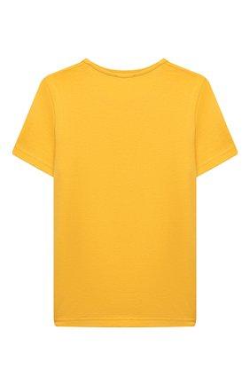 Детская хлопковая футболка ACNE STUDIOS желтого цвета, арт. 2NH173 | Фото 2