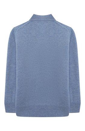 Детский шерстяной кардиган ACNE STUDIOS голубого цвета, арт. D60006   Фото 2 (Рукава: Длинные; Материал внешний: Шерсть; Девочки Кросс-КТ: Кардиган-одежда)