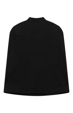 Детское шерстяное пончо BALMAIN черного цвета, арт. 6N2090/ND870/4-10 | Фото 2