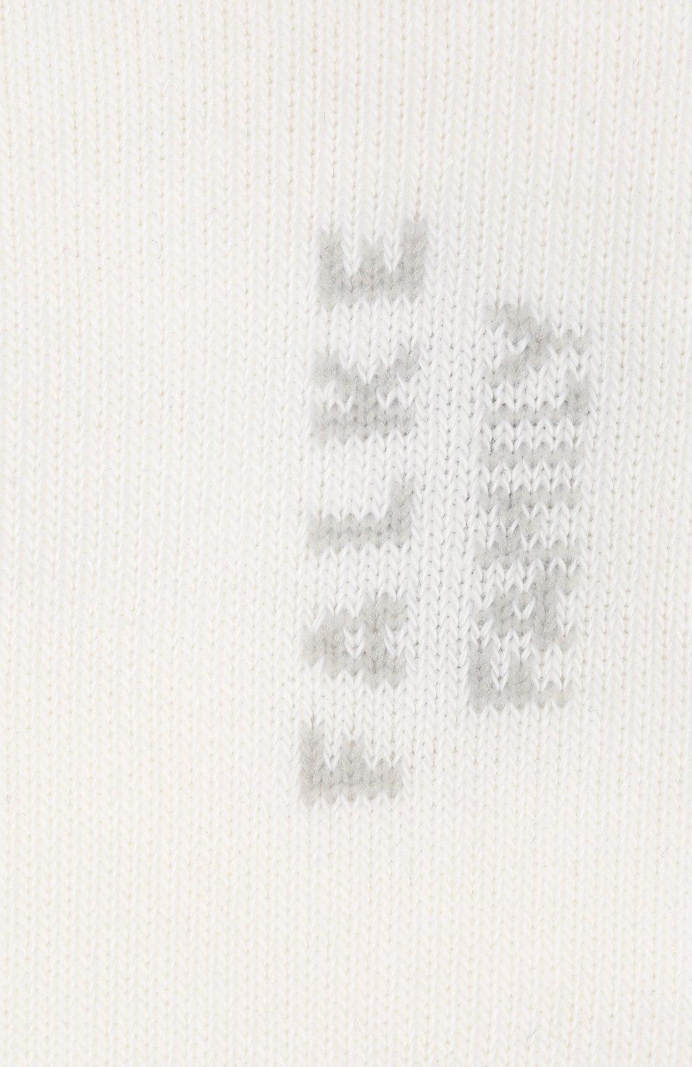 Детские носки FALKE белого цвета, арт. 10631.   Фото 2 (Материал: Текстиль, Хлопок)