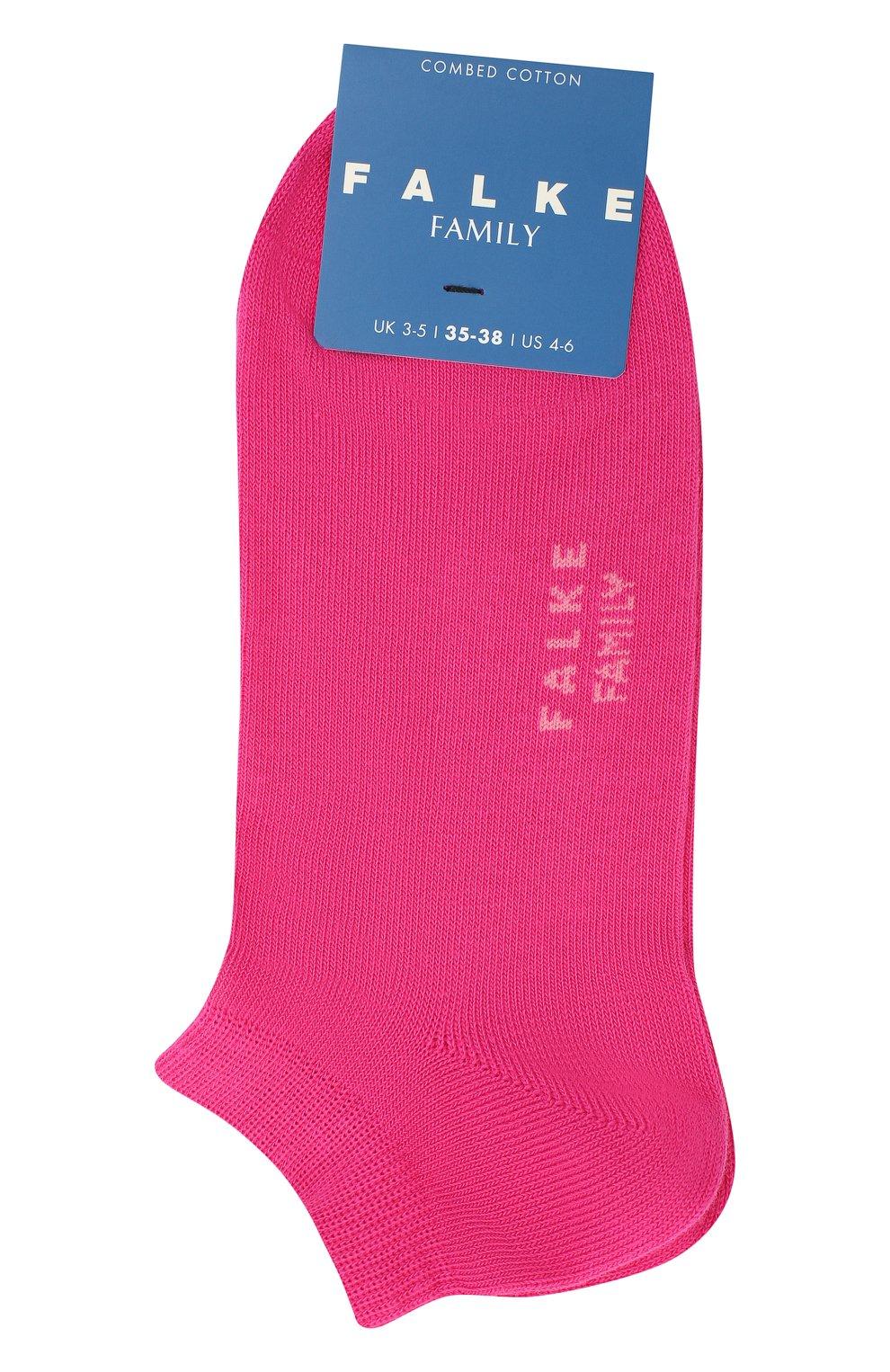 Детские носки FALKE фуксия цвета, арт. 10631. | Фото 1 (Материал: Текстиль, Хлопок)