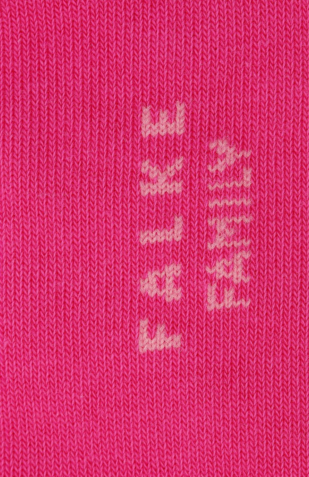 Детские носки FALKE фуксия цвета, арт. 10631. | Фото 2 (Материал: Текстиль, Хлопок)