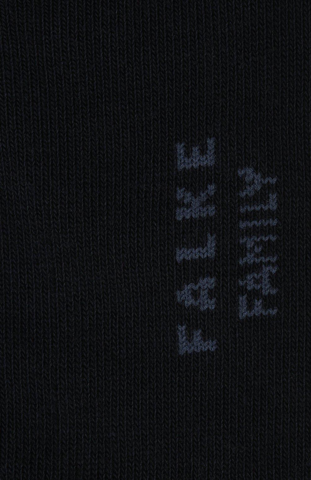 Детские носки FALKE темно-синего цвета, арт. 10631. | Фото 2 (Материал: Текстиль, Хлопок)