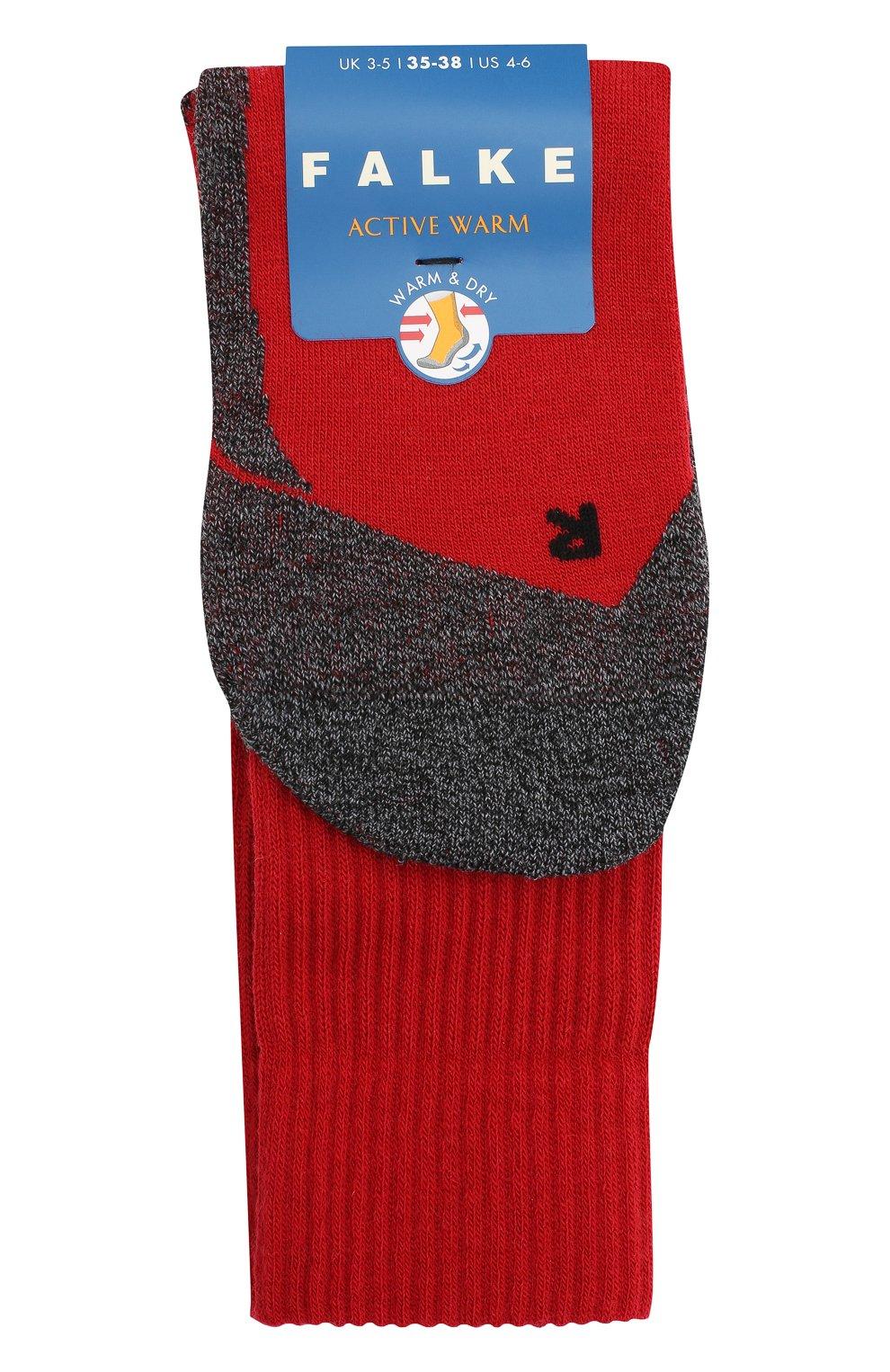 Детские носки FALKE красного цвета, арт. 10450.   Фото 1 (Материал: Текстиль)