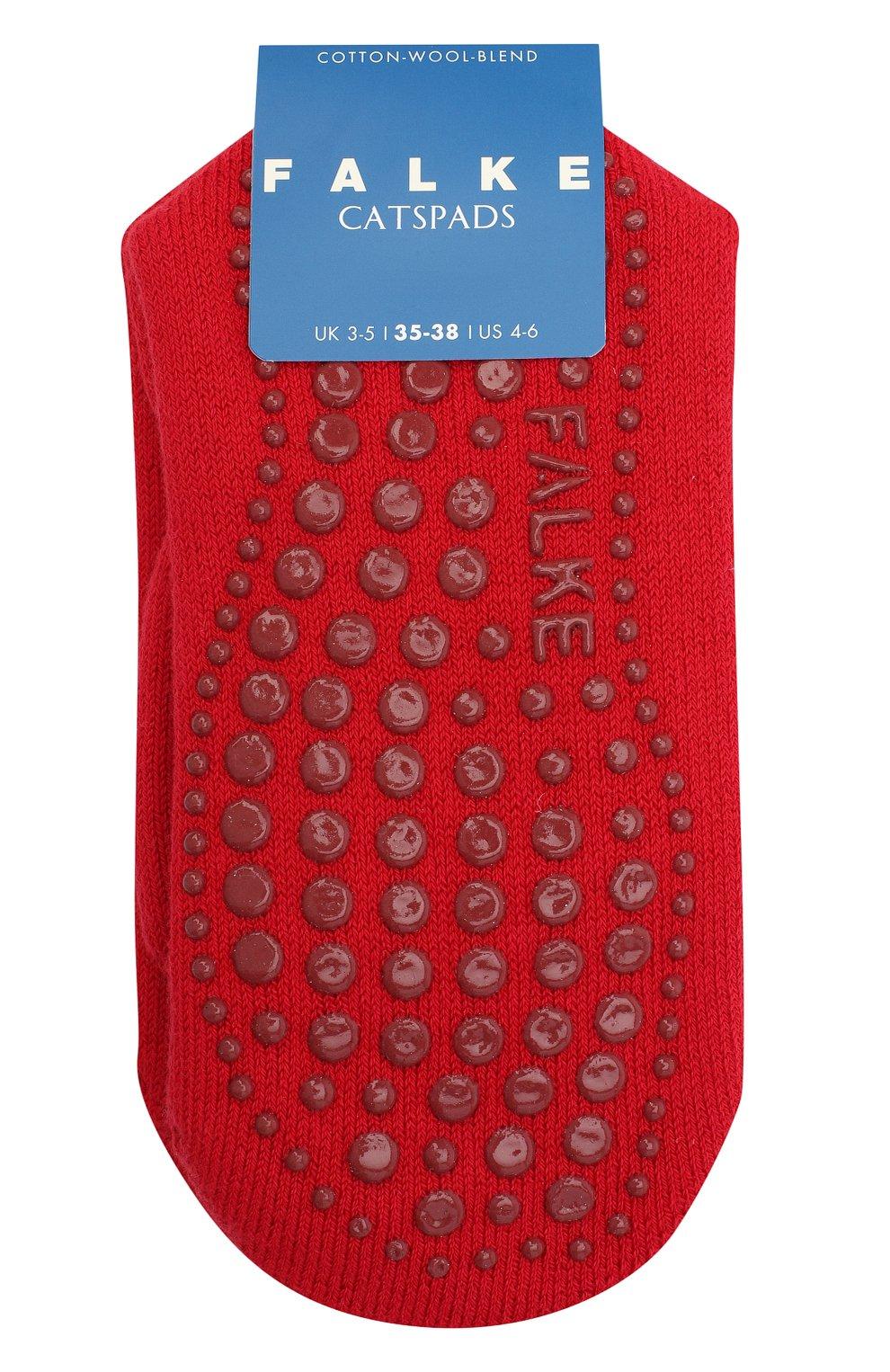 Детские носки из хлопка и шерсти FALKE красного цвета, арт. 10500. | Фото 1 (Материал: Текстиль, Хлопок)