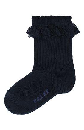 Детские хлопковые носки FALKE темно-синего цвета, арт. 12121. | Фото 1