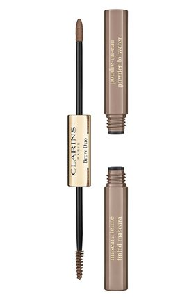 Средство для макияжа и фиксации бровей brow duo, 01 CLARINS бесцветного цвета, арт. 80063435 | Фото 1