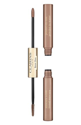 Женское средство для макияжа и фиксации бровей brow duo, 02 CLARINS бесцветного цвета, арт. 80063436 | Фото 1