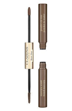 Женское средство для макияжа и фиксации бровей brow duo, 03 CLARINS бесцветного цвета, арт. 80063437 | Фото 1