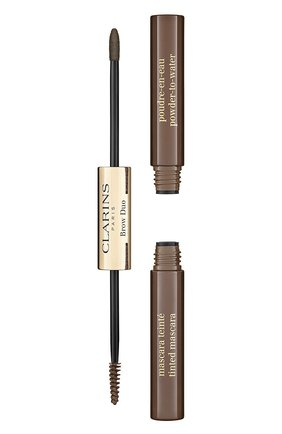 Средство для макияжа и фиксации бровей brow duo, 04 CLARINS бесцветного цвета, арт. 80069303 | Фото 1