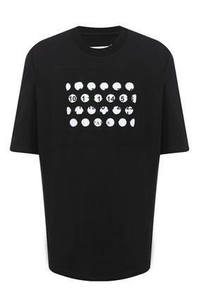 Мужская хлопковая футболка MAISON MARGIELA черного цвета, арт. S50GC0625/S22816   Фото 1