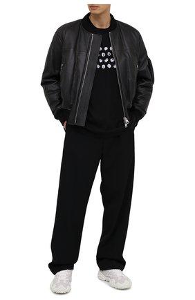 Мужская хлопковая футболка MAISON MARGIELA черного цвета, арт. S50GC0625/S22816   Фото 2