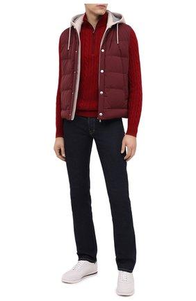 Мужской кашемировый свитер LORO PIANA красного цвета, арт. FAD7358 | Фото 2