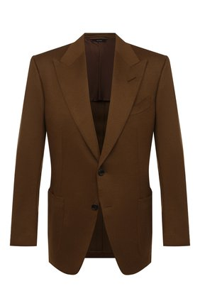 Мужской кашемировый пиджак TOM FORD светло-коричневого цвета, арт. Q29R12/15HA40 | Фото 1