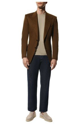 Мужской кашемировый пиджак TOM FORD светло-коричневого цвета, арт. Q29R12/15HA40 | Фото 2