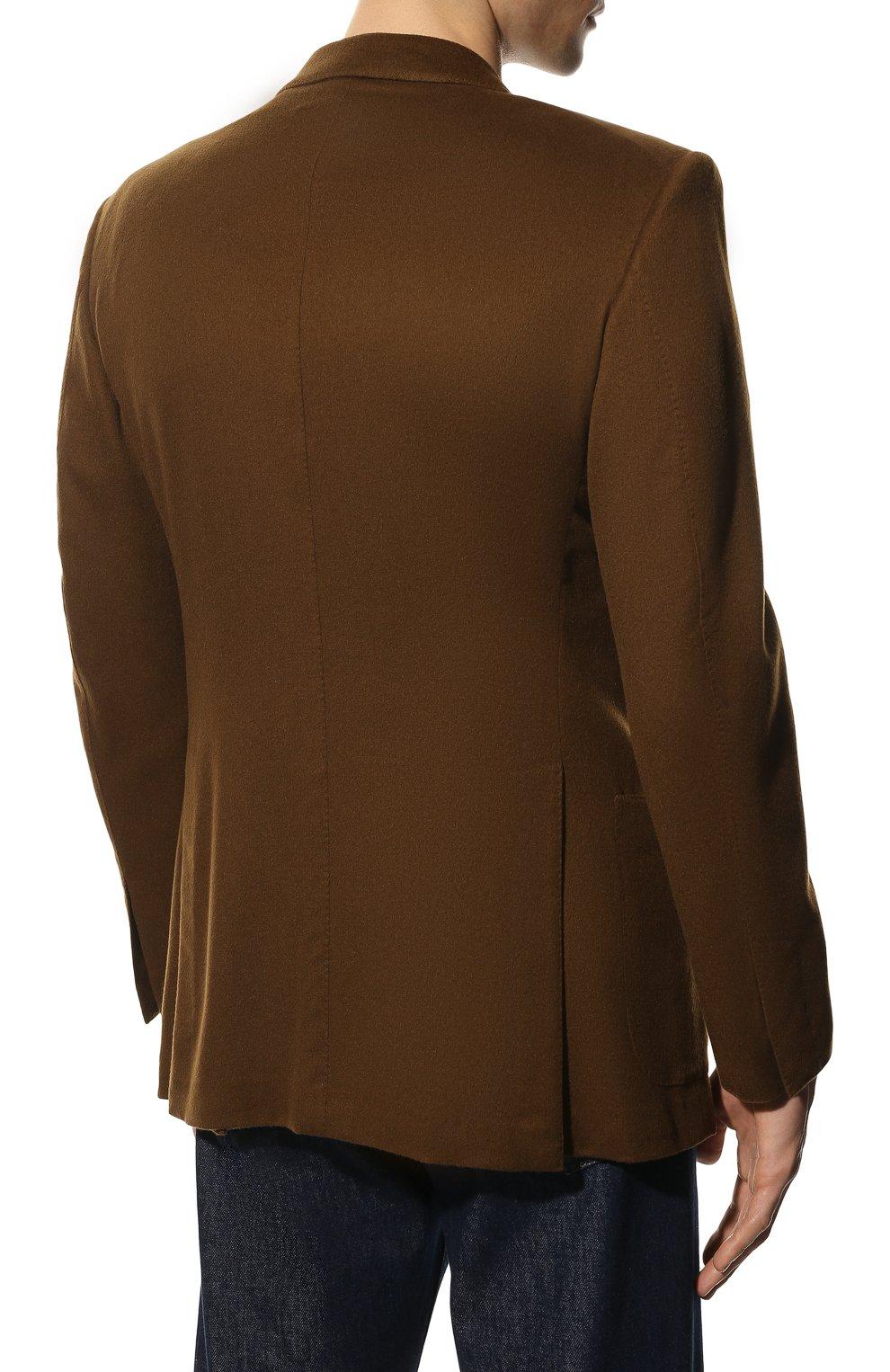Мужской кашемировый пиджак TOM FORD светло-коричневого цвета, арт. Q29R12/15HA40 | Фото 4