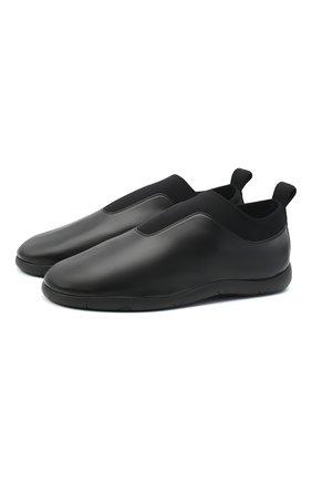 Мужские кожаные лоферы BOTTEGA VENETA черного цвета, арт. 640216/VBS21 | Фото 1