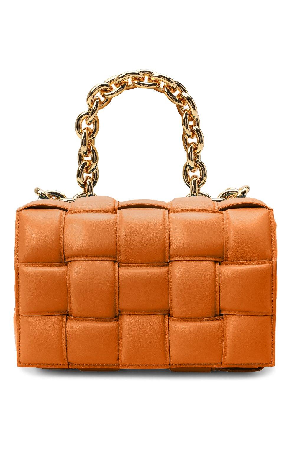 Женская сумка chain cassette BOTTEGA VENETA бежевого цвета, арт. 631421/VBWZ0 | Фото 1