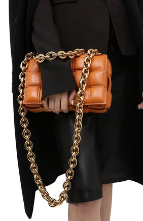 Женская сумка chain cassette BOTTEGA VENETA бежевого цвета, арт. 631421/VBWZ0 | Фото 2