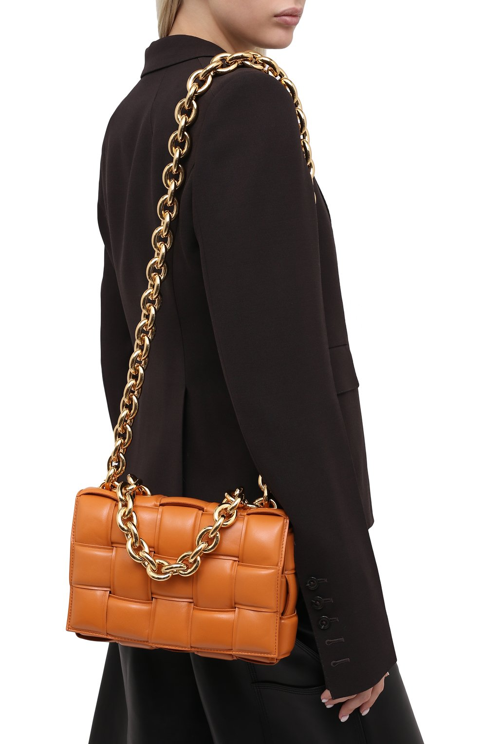 Женская сумка chain cassette BOTTEGA VENETA бежевого цвета, арт. 631421/VBWZ0 | Фото 5