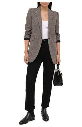 Женские кожаные челси SANTONI черного цвета, арт. WTGY58820BA1NLVVN01   Фото 2