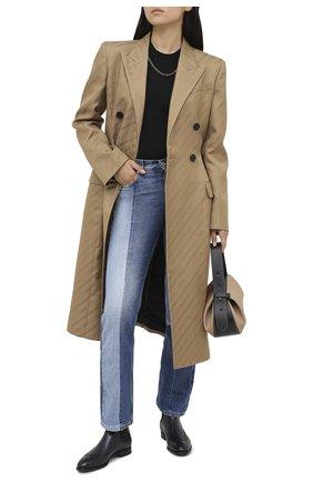 Женские кожаные челси SANTONI темно-синего цвета, арт. WTGY58820BA1NLVVU85 | Фото 2
