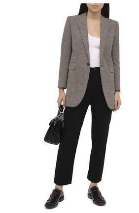 Женская кожаные монки TOD'S бордового цвета, арт. XXW59C0DM20SHA   Фото 2
