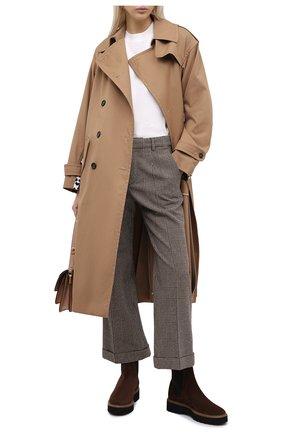 Женские комбинированные ботинки TOD'S темно-коричневого цвета, арт. XXW80C0DR70RE0 | Фото 2