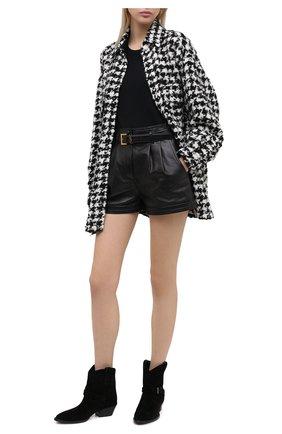 Женские замшевые ботинки west SAINT LAURENT черного цвета, арт. 630685/1NZ00 | Фото 2