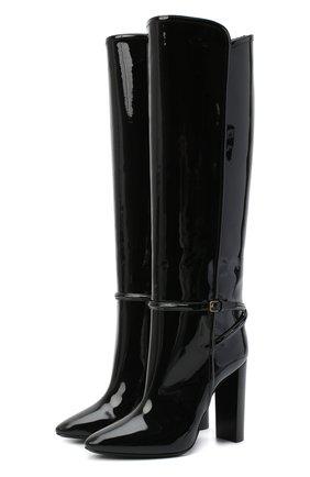 Женские кожаные сапоги 76 SAINT LAURENT черного цвета, арт. 633727/1TV00   Фото 1