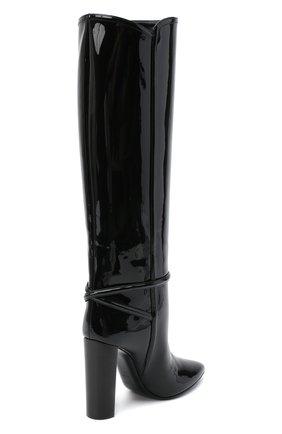 Женские кожаные сапоги 76 SAINT LAURENT черного цвета, арт. 633727/1TV00   Фото 4