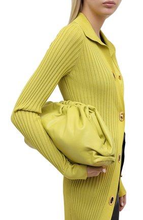 Женский клатч pouch BOTTEGA VENETA светло-зеленого цвета, арт. 576227/VCP40   Фото 2