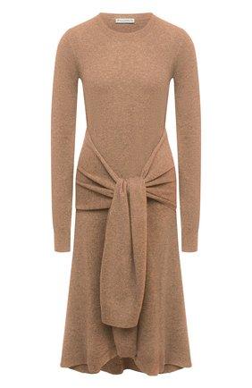 Женское шерстяное платье JW ANDERSON коричневого цвета, арт. KW0340 YN0054 | Фото 1