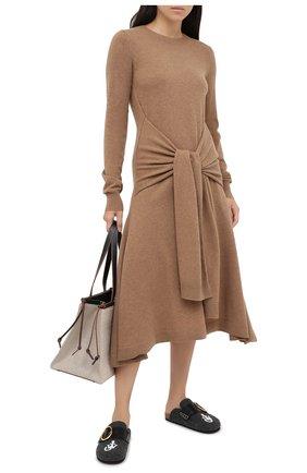 Женское шерстяное платье JW ANDERSON коричневого цвета, арт. KW0340 YN0054 | Фото 2