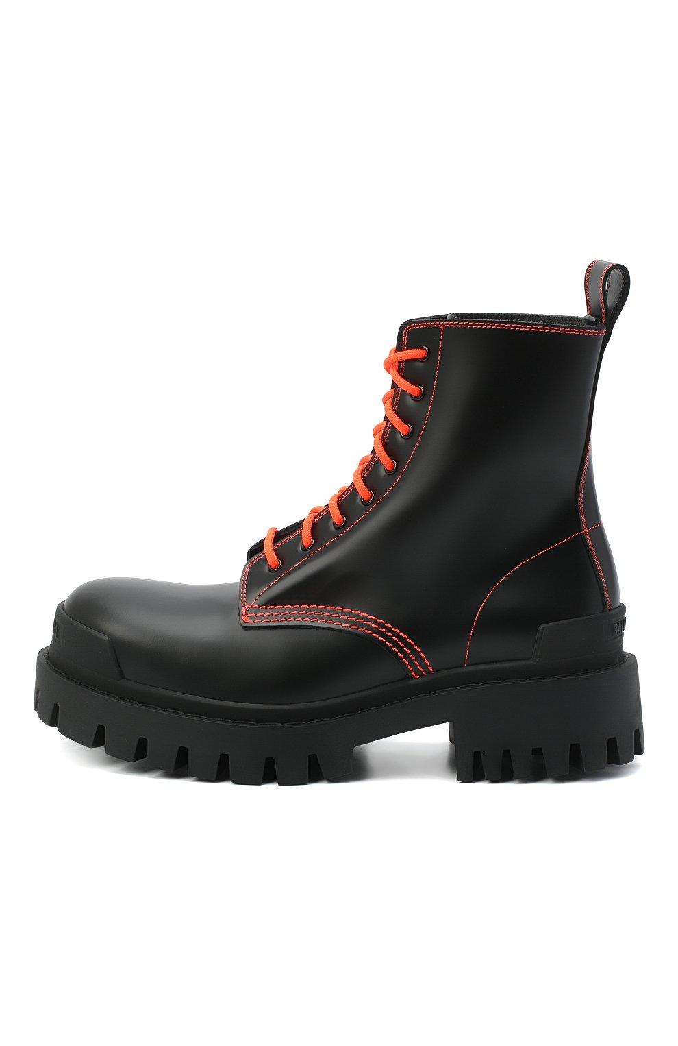 Женские кожаные ботинки 20 мм strike BALENCIAGA черного цвета, арт. 590974/WA964   Фото 3