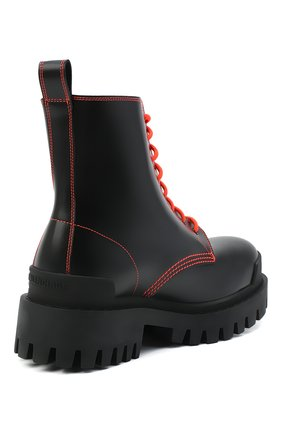 Женские кожаные ботинки 20 мм strike BALENCIAGA черного цвета, арт. 590974/WA964   Фото 4